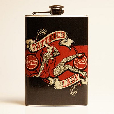 Tattooed Lady Flask