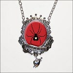 Black Widow Queen of Hearts Necklace
