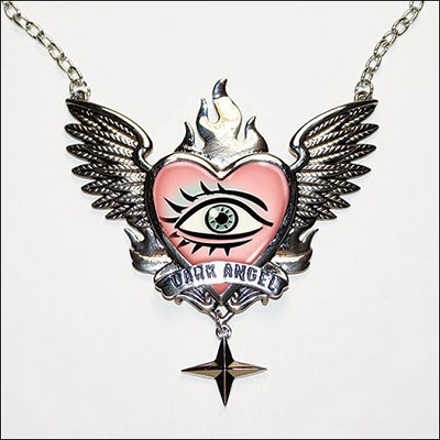 All Knowing Dark Angel Medallion Necklace