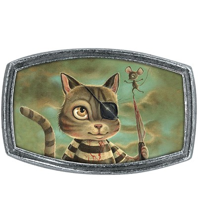 Classic Hardware Pirate Kitty Belt Buckle