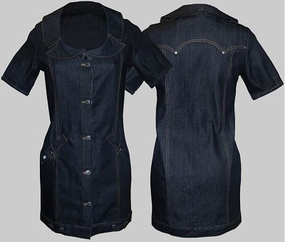 King Kerosin Raw Denim Hotrod Dress
