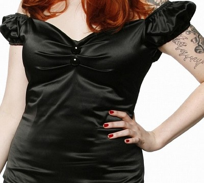 Collectif Dolores Top Fiesta Black