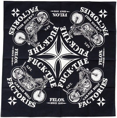 Felon Garage Built Bandana
