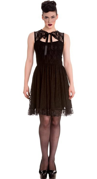 Hell Bunny Selena Black Mini Dress