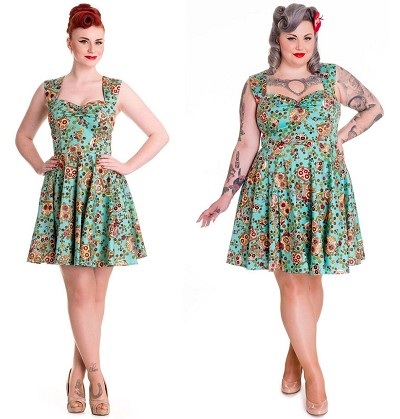 Hell Bunny Idaho Sugar Skull Mini Dress