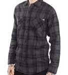 King Kerosin Grey Black Long Sleeve Flannel Shirt