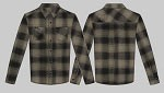 King Kerosin Light Grey Long Sleeve Flannel Shirt