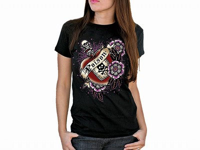 Lucky 13 Cold Heart Girlfriend Tshirt