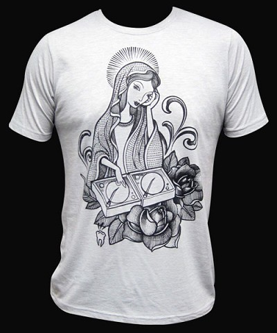DJ Mary Mens Gray Tshirt