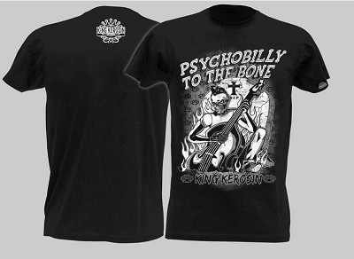 King Kerosin Psychobilly to the Bone Mens Tshirt