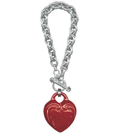 Classic Hardware Ornate Heart Retrolite Bracelet
