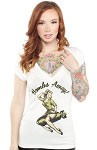 Bombs Away Pinup Vneck Tshirt