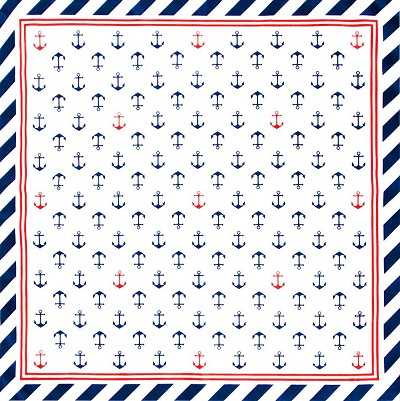 Sail Away Anchors Bandana