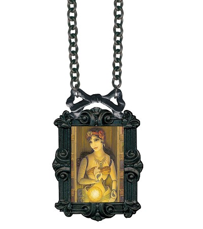 Classic Hardware Fortune Teller Victorian Bowframe Necklace