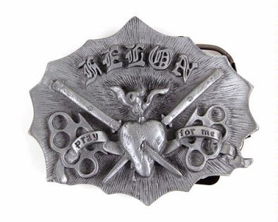 Felon Pray for Me Belt Buckle