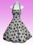 Silver Rose 50's Halter Dress