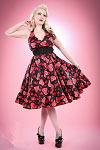 Hearts and Roses Marilyn Style 50's Halter Dress