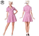 Hell Bunny Tuesday Dress in Pink