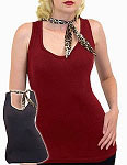 Dame Leopard Scarf Tank Top