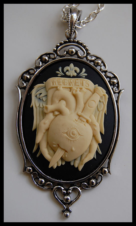 Regrets and Sorrow Cameo Necklace