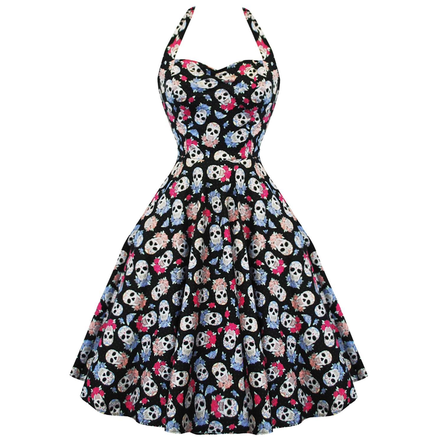 Hell Bunny Muertos 50's Dress