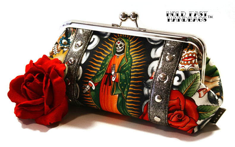 Hold Fast Handbags Day of the Dead Clutch