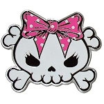 Skully Bow Belt Buckle in Pink