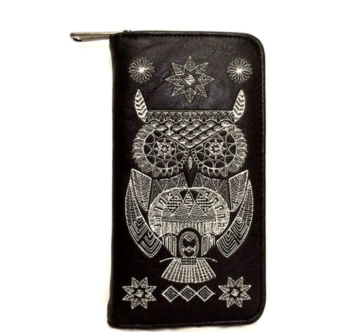 Loungefly Embroidered Black/White Owl Wallet
