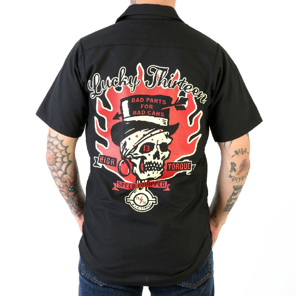Lucky 13 Mens Dead Skull WorkShirt
