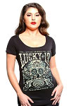 Lucky 13 Madera Muerta Womens Scoop Neck Tee