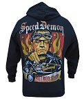 Lowbrow Art Company Speed Demon Hot Rod  Mens Hoodie