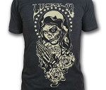 Lucky 13 Muertos Virgin Mens Over Dyed Vintage Tshirt