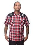 Chaos Skull and Crossbones Western Shirt