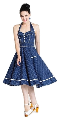 Hell Bunny Blue Vanity Dress