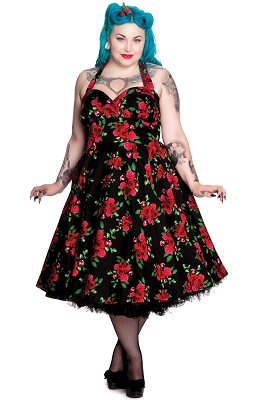 Hell Bunny Cannes 50s Dress in Black