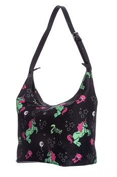 Hell Bunny Zombie Unicorn Horror Black Boho Bag