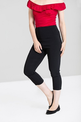 Hell Bunny Tina Capri Black Pants