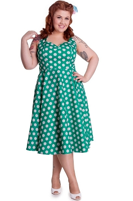 Hell Bunny Green Mariam Dress