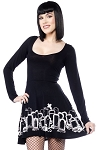 Grave Digger Skater Long Sleeved Dress