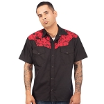 Skull and Guns Mens Western Shirt