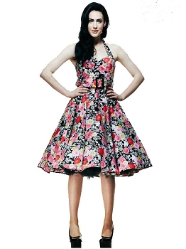 Hell Bunny Vonnie's 50s Rockabilly Swing Dress