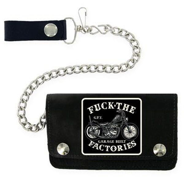 Felon Garage Built Leather Wallet and Chain