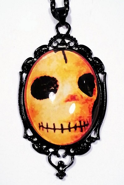 Creepy Calavera Cameo Necklace