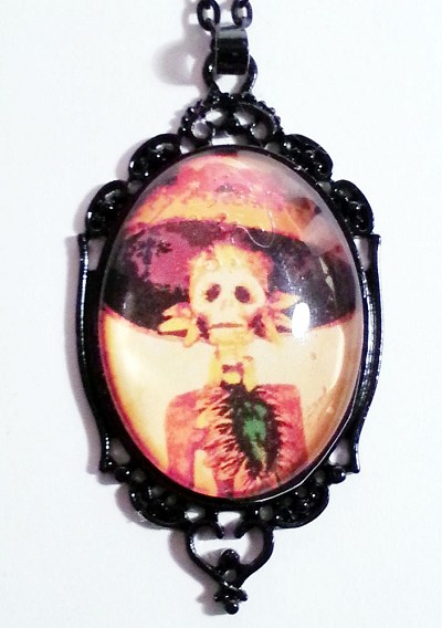 Out on the Town Day of the Dead Cameo Necklace