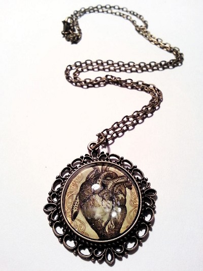 Heart Beats Anatomical Necklace