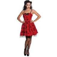 Hell Bunny Red Mary Jane Dress